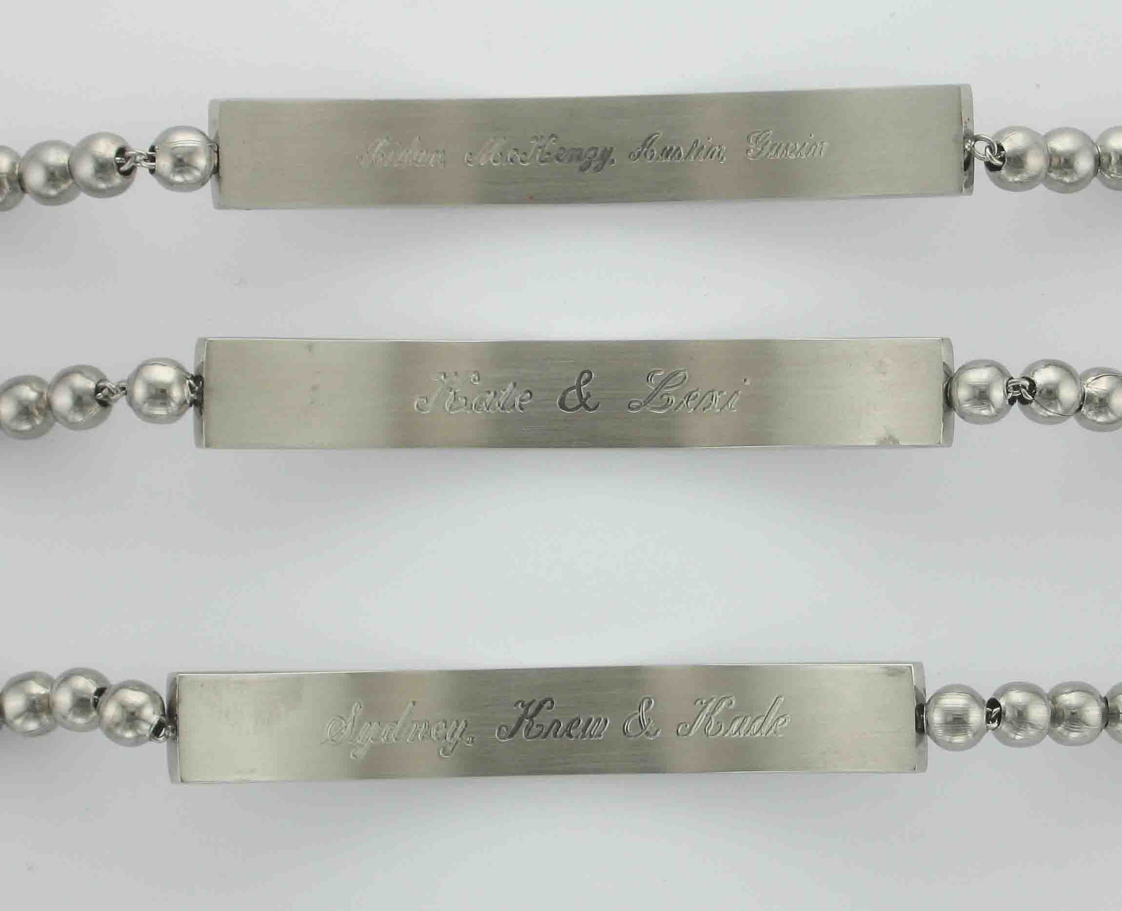 Here Are 3 Mothers Bracelets With The Kids Names Engraved
