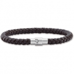 Leather Bracelet with Stainless Steel Clasp Item #- LEG044-308-P